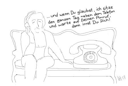 neben dem Telefon