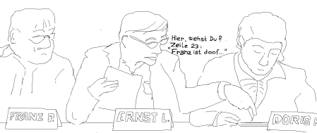 5) Franz ist doof